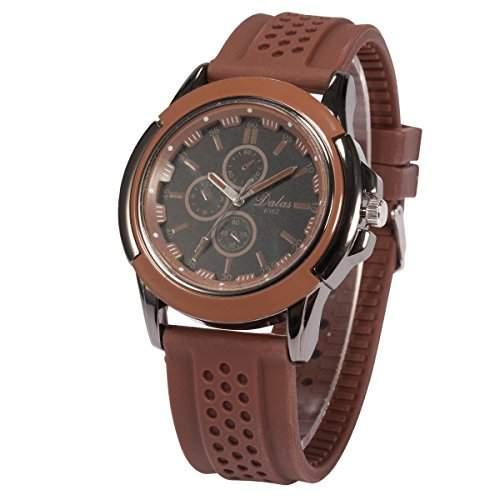 AMPM24 Herren Armbanduhr Quarzwerk Analog Anzeige Silikon Armband Sportuhr WAA742