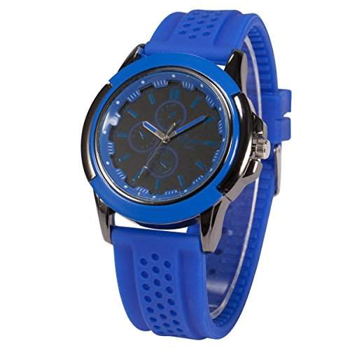 AMPM24 Herren Armbanduhr Quarzwerk Analog Anzeige Silikon Armband Sportuhr WAA744
