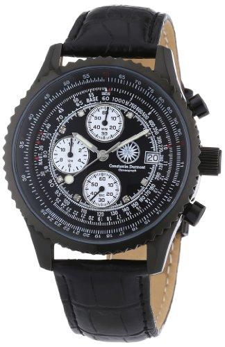 Constantin Durmont Herren Armbanduhr Navigator Chronograph NavLTIPBK D