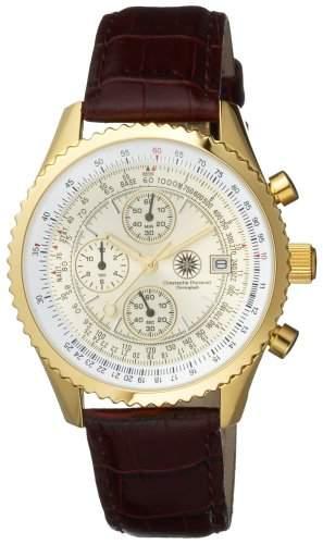 Constantin Durmont Herren-Armbanduhr Navigator Gold Chronograph Quarz NavGD