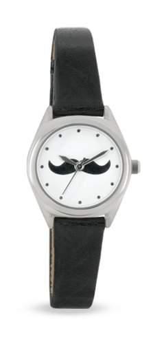 Portobello Road WomenQuarz-Uhr mit weissem Zifferblatt Analog-Anzeige und Schwarz PU Strap APR2001