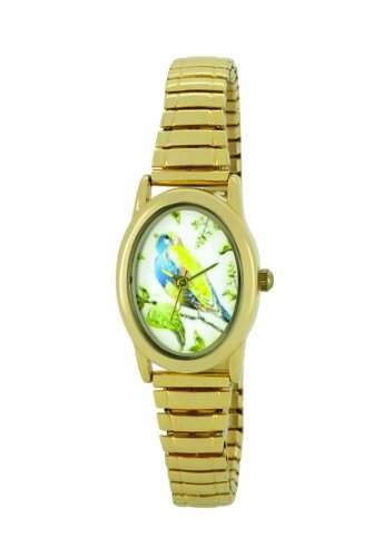 Portobello Road Damen-Armbanduhr Quarz, mehrfarbiges Zifferblatt, Analog-Anzeige, goldfarbenes Armband APR4000