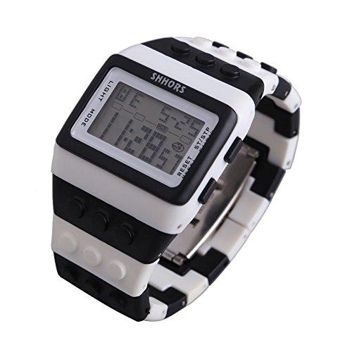 Farbe Multifunktion Armbanduhr SHHORS Regenbogen Farbe Multifunktion Wasserdichte LED Kinder Armbanduhr Schwimmen Sportuhr Digital Armbanduhr styel 11