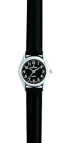SHEPHERD 01332 Damenarmbanduhr Lederband schwarz