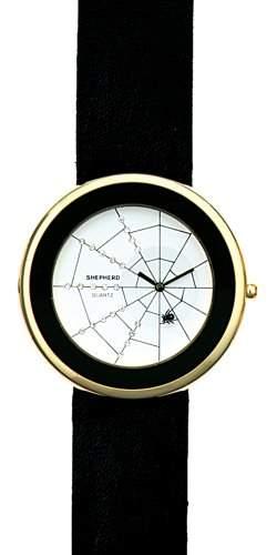 SHEPHERD Damen Armbanduhr grosse Version 50 mm Ø Quarz Spinne 15101 Spinnenuhr