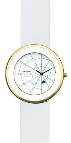 SHEPHERD Damen Armbanduhr grosse Version 50 mm Ø Quarz Spinne 15103 Spinnenuhr