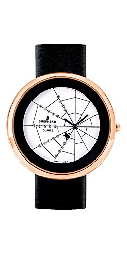 SHEPHERD Damen Armbanduhr grosse Version 50 mm Quarz Spinne 15109 Spinnenuhr