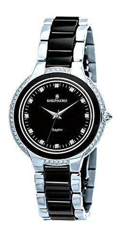 SHEPHERD Keramik Damen Armbanduhr 60381