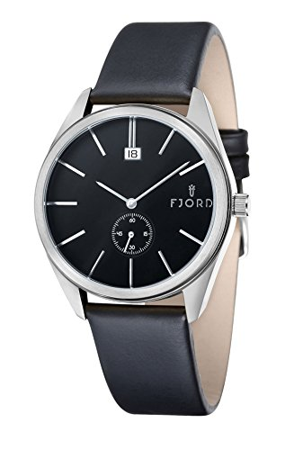 Uhr Quarz Fjord Display Armband und Zifferblatt fj 3016 01 blackdial 42 mm