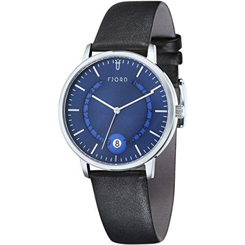 Uhr Quarz Fjord Display Armband und Zifferblatt fj 3018 02 bluedial 40 mm