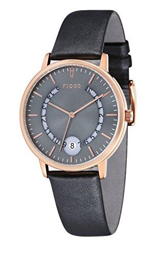 Uhr Quarz Fjord Display Armband und Zifferblatt fj 3018 03 greydial 40 mm