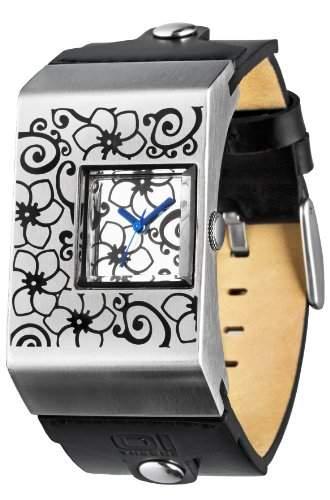 THE ONE Binary Damen-Armbanduhr Double Screen Analog Leder AN02M03