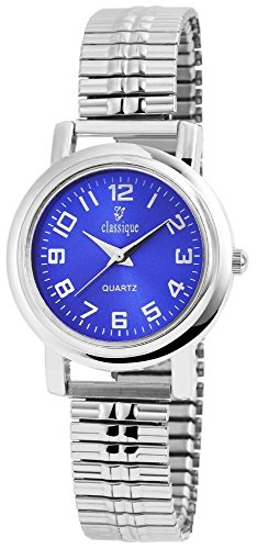 Classique Uhr Armbanduhr Metallzugband Zifferblatt blau RP2123000003