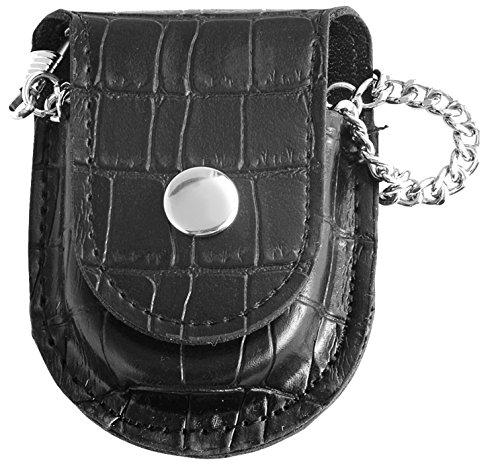Classique Uhr Cowboy Guertel Taschenuhr analog mit Karabiner Kette Black Schwarz