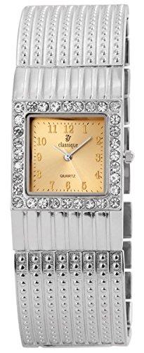 Classique Damenuhr Metall Armbanduhr Uhr goldfarbig 100424500139