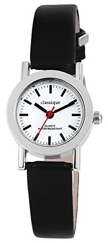 Classique mit Lederimitationarmband Weiss Armbanduhr Uhr 100322000028