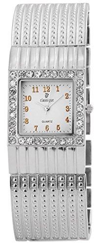 Classique Metall Armbanduhr Uhr Weiss 100422000139
