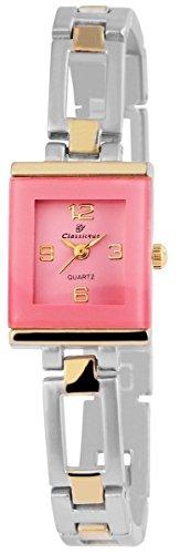 Classique Damenuhr mit Metallarmband Armbanduhr Uhr Rosa 100415500276