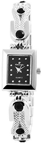 Classique Damenuhr mit Metallarmband Armbanduhr Uhr 100421000227