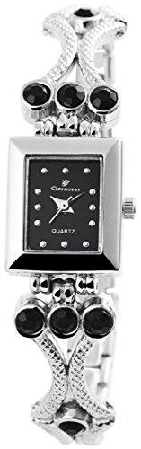 Classique Damenuhr mit Metallarmband Armbanduhr Uhr 100421000349
