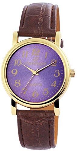 Classique Herrenuhr mit Lederimitationarmband Armbanduhr Uhr RP3400310001