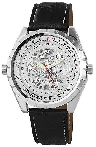 Hochwertige der Marke Classique RP7002200004 und Armband in Schwarz mit Dornschliesse Ziffernblattfarbe schwarz Bandgesamtlaenge 23 cm Armbandbreite 24 mm