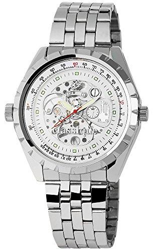 Hochwertige der Marke Classique RP7002200006 mit Armband in Silberfarbig und Faltschliesse Ziffernblattfarbe Weiss Bandgesamtlaenge 21 cm Armbandbreite 24 mm