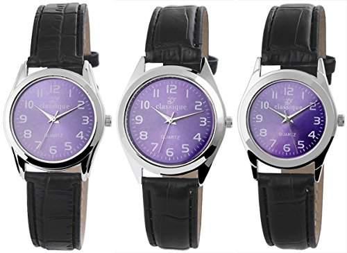 Classique Herrenuhr mit Lederimitationarmband Armbanduhr Uhr RP1231000001