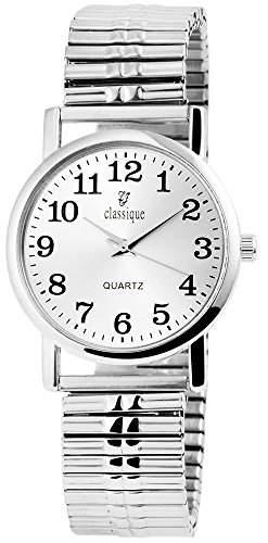 Classique Herrenuhr mit Metallzugband silberfarbig Armbanduhr Uhr RP1322500002