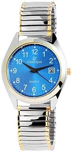 Classique Herrenuhr mit Metallzugband Blau Armbanduhr Uhr RP1331300002