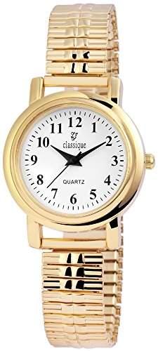 Classique Damenuhr mit Metallzugband Weiss Armbanduhr Uhr RP2102000003