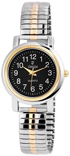 Classique Damenuhr mit Metallzugband Schwarz Armbanduhr Uhr RP2111000001
