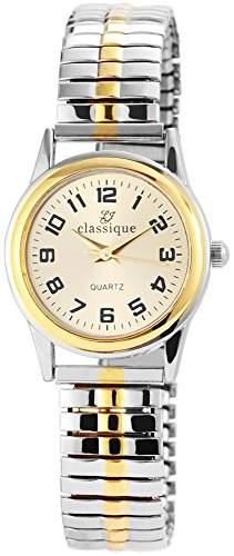 Classique Damenuhr mit Metallzugband goldfarbig Armbanduhr Uhr RP2114000001