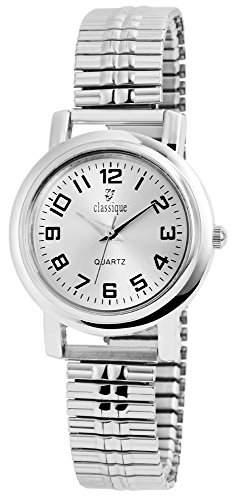 Classique Damen Analog Armbanduhr mit Quarzwerk RP2122500003 und Metallgehaeuse mit Metallzugband in Silberfarbig Ziffernblattfarbe silberfarbig Armbandbreite 14 mm