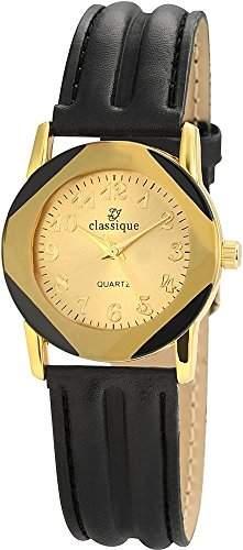 Classique Damenuhr Lederimitationarmband Armabnd Gold RP3550400002