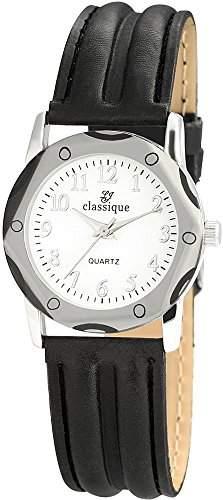 Classique Damenuhr mit Lederimitationarmband Weiss Armbanduhr Uhr RP3552250001