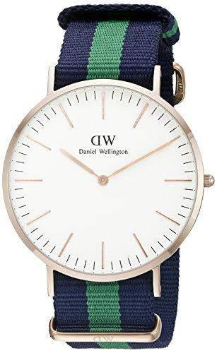 Daniel Wellington Herren-Armbanduhr Analog Quarz Leder DW00100005