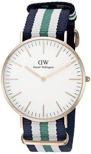 Daniel Wellington Herren-Armbanduhr XL Notthingham Analog Quarz Nylon 0108DW