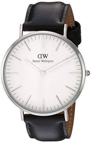 Daniel Wellington Herren-Armbanduhr Analog Quarz Leder DW00100020