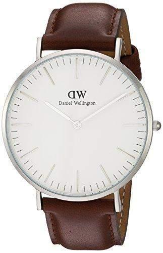 Daniel Wellington Herren-Armbanduhr Analog Quarz Leder DW00100021
