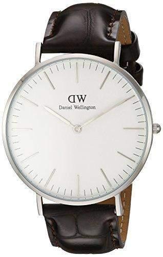 Daniel Wellington Herren-Armbanduhr Analog Quarz Leder DW00100025