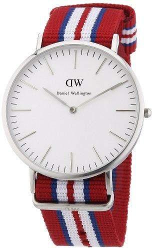 Daniel Wellington Herren-Armbanduhr XL Exeter Analog Quarz Nylon 0212DW
