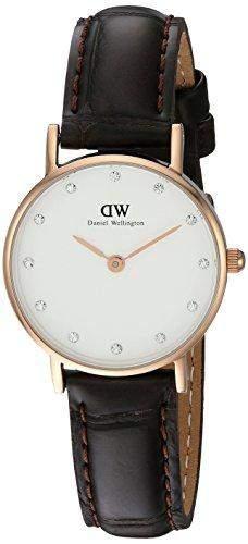 Daniel Wellington Damen-Armbanduhr Analog Quarz Leder DW00100061