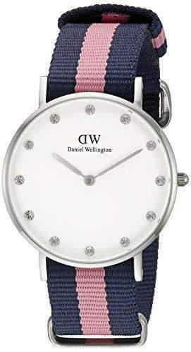 Daniel Wellington Damen-Armbanduhr XS Classy Winchester Analog Quarz Nylon 0906DW