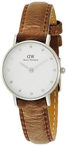 Daniel Wellington 0924DW Classy Cardiff Uhr Damenuhr Lederarmband Edelstahl 30m Analog braun