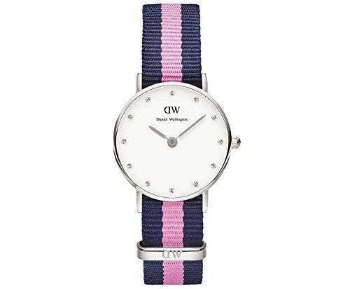 Daniel Wellington Damen-Armbanduhr XS Classy Winchester Lady Silver Analog Quarz Nylon DW00100073