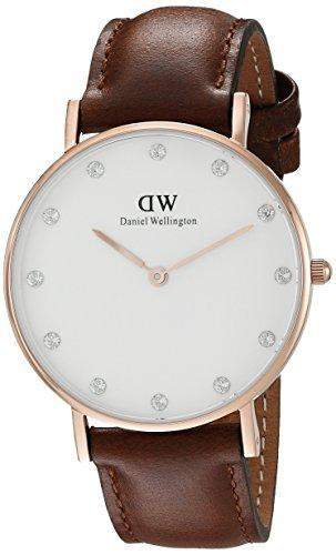 Daniel Wellington Damen-Armbanduhr Analog Quarz Leder DW00100075