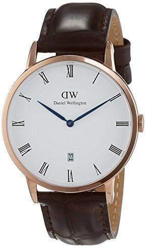 Daniel Wellington Herren-Armbanduhr Analog Quarz Leder DW00100085