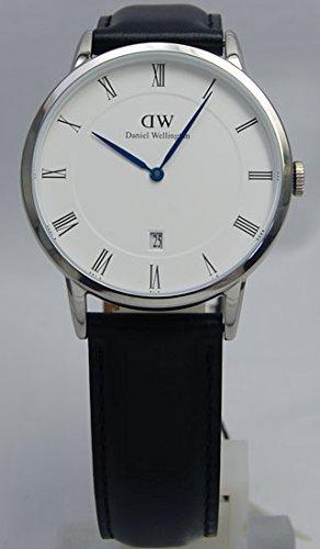 Daniel Wellington 1121DW Uhr schwarz silber Sheffielld 38 mm