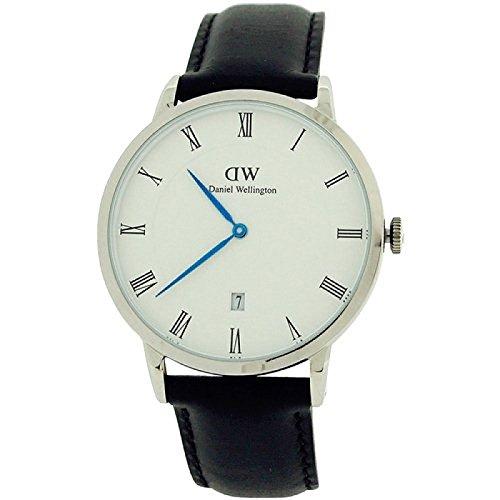Daniel Wellington Bristol silberf Armbanduhr mit schwarzem Echtleder 1121DW